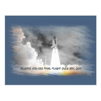 Atlantis Space Shuttle STS-135 Last Flight Postcard