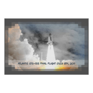 Atlantis Space Shuttle STS-135 Last Flight Poster