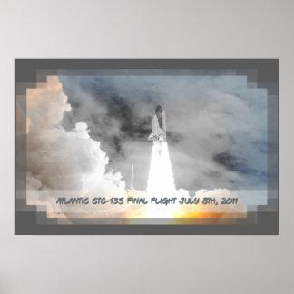 Atlantis Space Shuttle STS-135 Last Flight Print