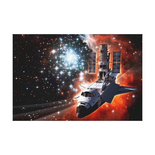 Atlantis with Hubble Canvas Prints