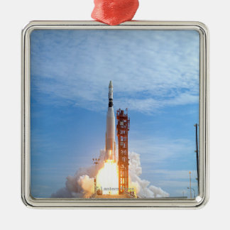 Atlas Agena target vehicle liftoff for Gemini 11 Silver-Colored Square Decoration