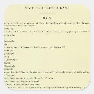 Atlas California earthquake, April 18, 1906 Square Sticker