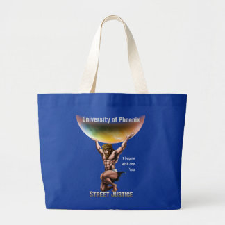 Atlas Conquers All*Personalized*by Street Justice Jumbo Tote Bag