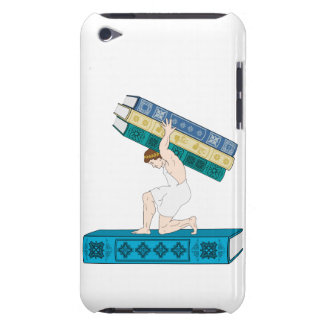 Atlas Holding Stack of Books Case-Mate iPod Touch Case