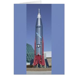Atlas icbm at strategic air space museum Nebraska Note Card