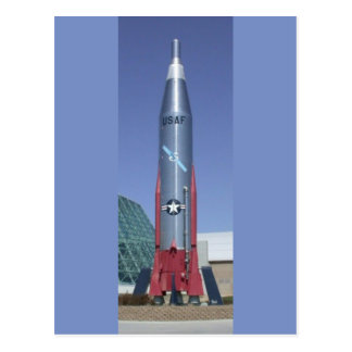 Atlas icbm at strategic air space museum Nebraska Postcard