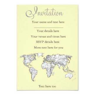 Atlas in ivory cream 13 cm x 18 cm invitation card