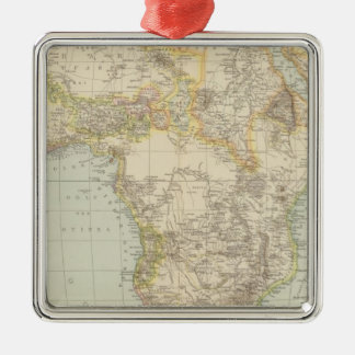 Atlas Map of Africa Christmas Ornament