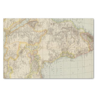 Atlas Map of Africa Tissue Paper