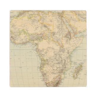 Atlas Map of Africa Wood Coaster