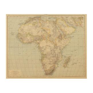 Atlas Map of Africa Wood Wall Art