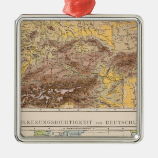 Atlas map of Central Europe Christmas Ornament