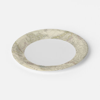 Atlas Map of Europe 7 Inch Paper Plate