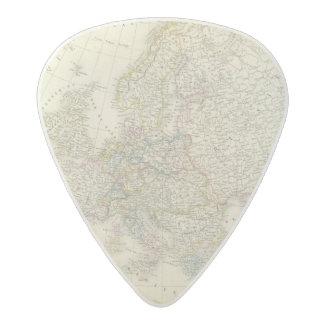 Atlas Map of Europe Acetal Guitar Pick
