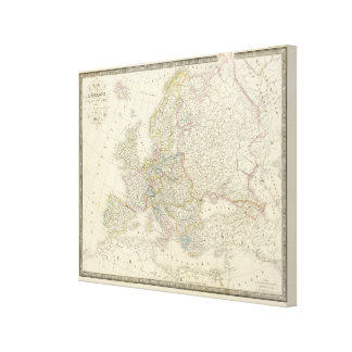Atlas Map of Europe Canvas Print
