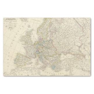 Atlas Map of Europe Tissue Paper