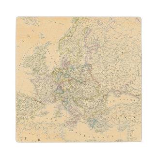 Atlas Map of Europe Wood Coaster