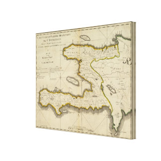 Atlas Map of Haiti Canvas Print