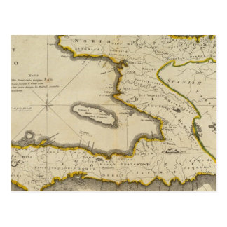 Atlas Map of Haiti Postcard