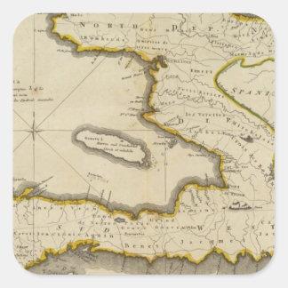 Atlas Map of Haiti Square Sticker