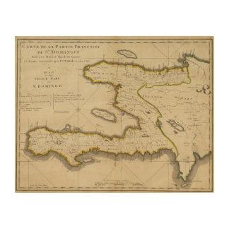 Atlas Map of Haiti Wood Wall Art