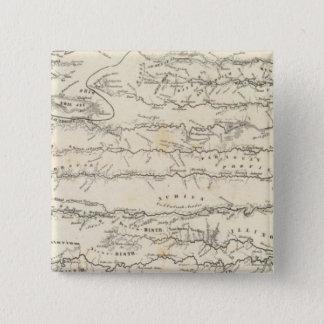 Atlas Map of Rivers 15 Cm Square Badge