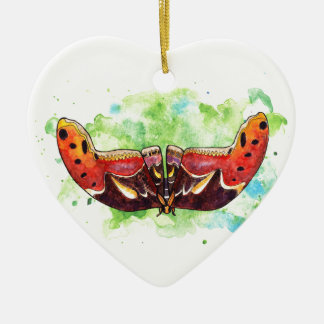 Atlas moth christmas ornament