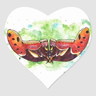 Atlas moth heart sticker