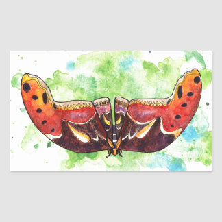 Atlas moth rectangular sticker