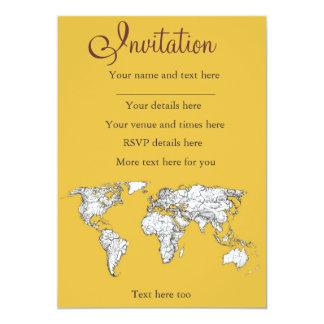 Atlas mustard drawing 13 cm x 18 cm invitation card