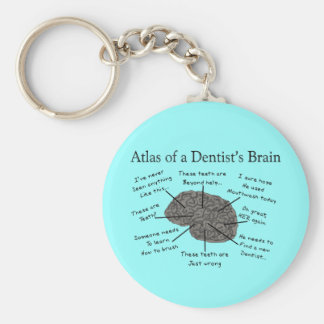 Atlas of a Dentist's Brain Basic Round Button Key Ring