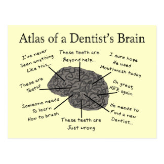 Atlas of a Dentist's Brain Postcard