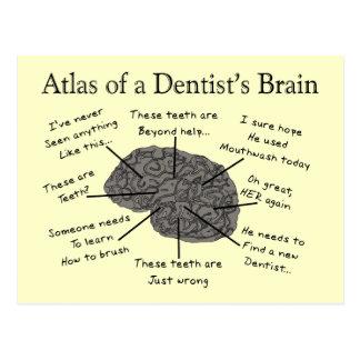 Atlas of a Dentist's Brain Postcard