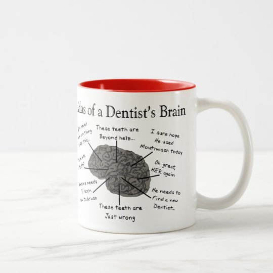 Atlas of a Dentist's Brain Two-Tone Coffee Mug