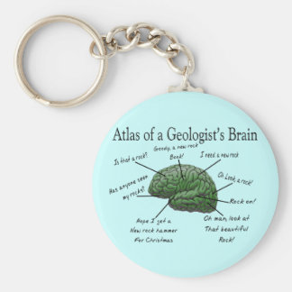 Atlas of a Geologist's Brain Funny Gifts Basic Round Button Key Ring
