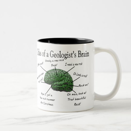 Atlas of a Geologist's Brain Funny Gifts Two-Tone