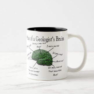 Atlas of a Geologist's Brain Funny Gifts Two-Tone Mug