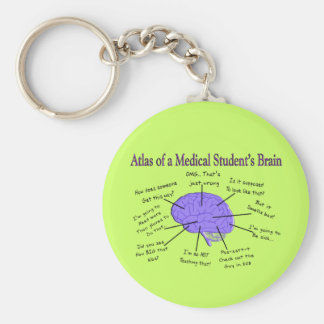 Atlas of a Medical Student's Brain #2 Key Ring