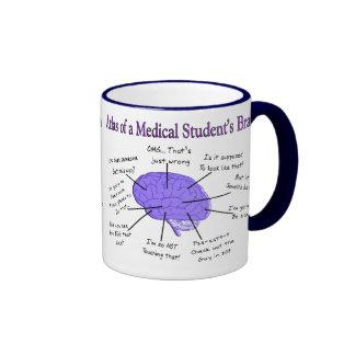 Atlas of a Medical Student's Brain #2 Ringer Mug