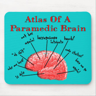 Atlas of a Paramedic Brain Mouse Mat