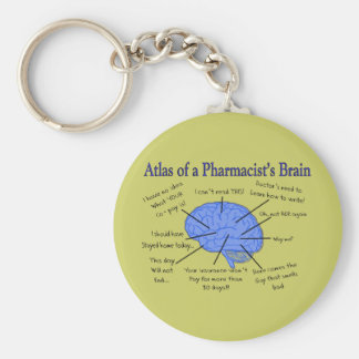 Atlas Of A Pharmacist's Brain-Hilarious Key Ring