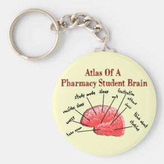 Atlas of a Pharmacy Student Brain Basic Round Button Key Ring