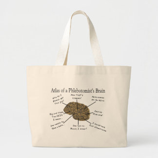 Atlas of a Phlebotomist's Brain Large Tote Bag