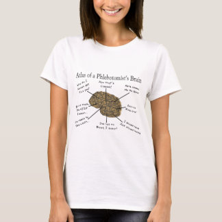 Atlas of a Phlebotomist's Brain T-Shirt