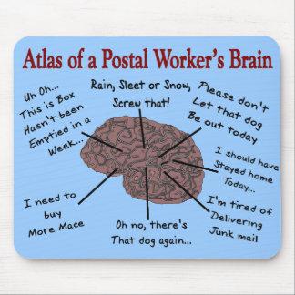 Atlas of a Postal Worker's Brain Mouse Mat
