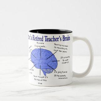 Atlas of a Retired Teacher s Brain Mug