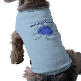 Atlas of a Retired Teacher's Brain Sleeveless Dog Shirt