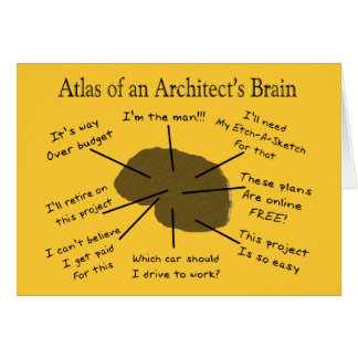 Atlas of an Architect's Brain Greeting Card