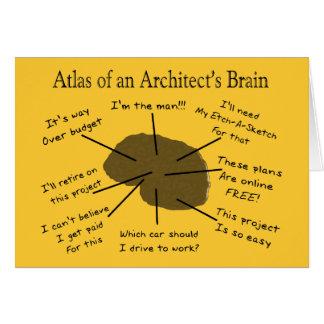 Atlas of an Architect's Brain Greeting Card