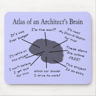 Atlas of an Architect's Brain Mouse Mat